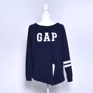 GAP logo sweat shirt navy blue size Medium